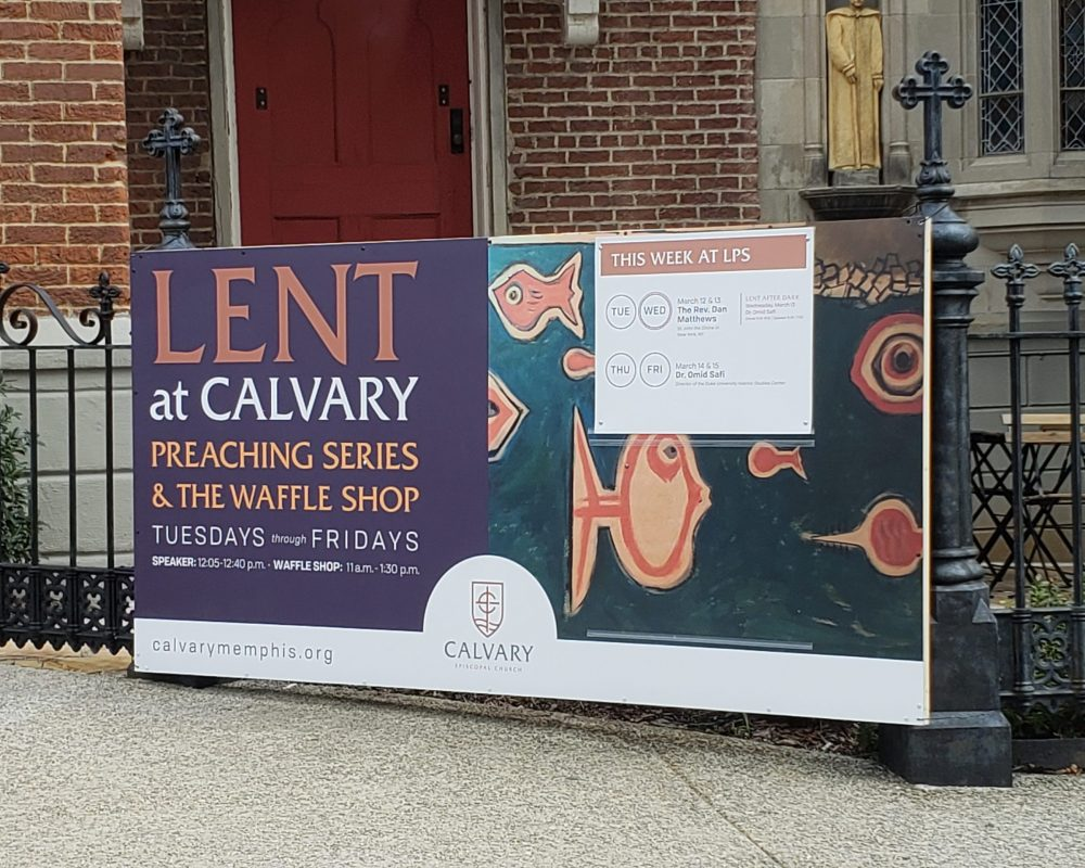 Calvary Lent Sign Pic