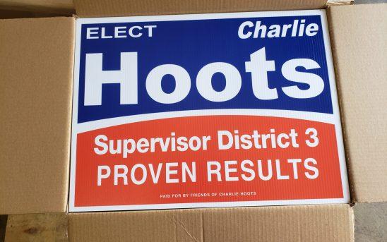 Charlie Hoots Yard Signs