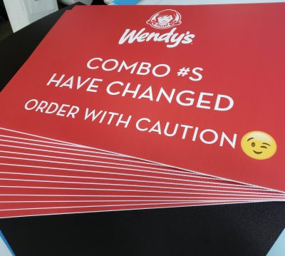Wendy's Yard Signs